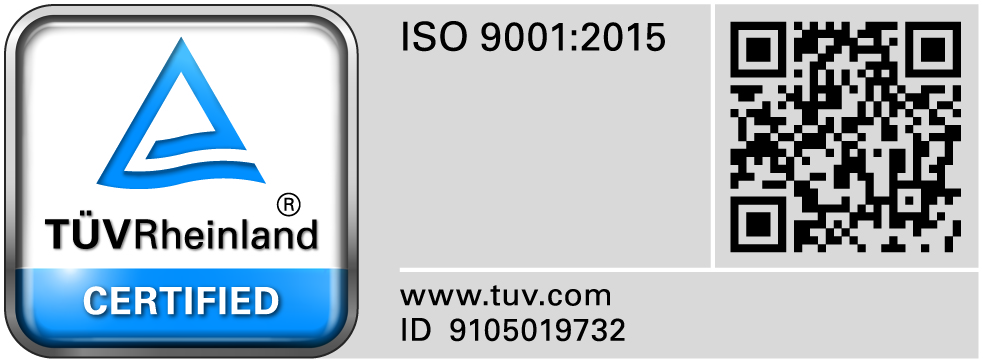 ISO certification by TUV